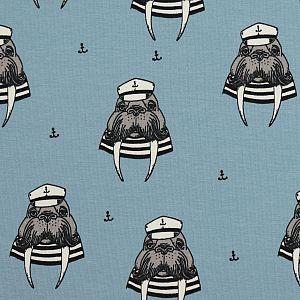 Bio Sommersweat Captain Walrus hellblau von Bloome Copenhagen