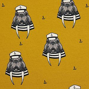 Bio Jersey Captain Walrus ocker von Bloome Copenhagen