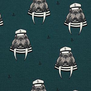 Bio Sommersweat Captain Walrus petrol von Bloome Copenhagen