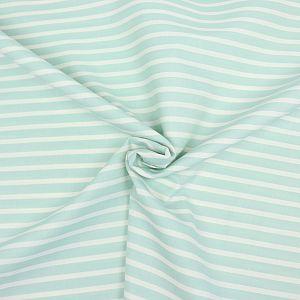 Bio Chambray Streifen mintgrün von Amandine Cha