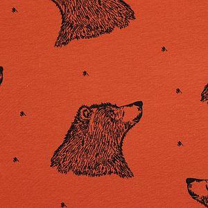 Bio Jersey Curious Bear rost von Bloome Copenhagen