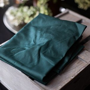 Dry Waxed Organic Cotton in dark green von mind the MAKER