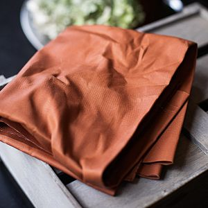Dry Waxed Organic Cotton in rust/rost von mind the MAKER