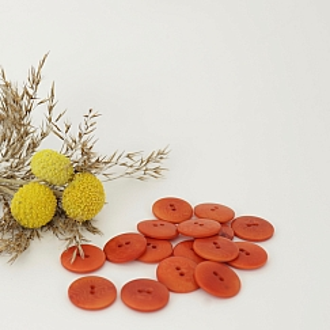 Bio Knöpfe Echt Steinnuss 20mm mango orange matt im Set