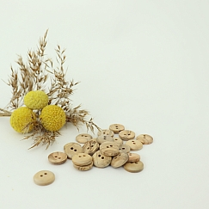 Bio Holzknopf Olivenholz geschüsselt 12mm