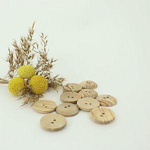 Bio Holzknopf Olivenholz geschüsselt 23mm