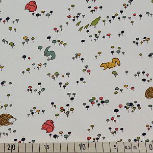 Bio Interlock Jersey Meadow Run weiß von Birch Fabrics