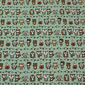 Bio Jersey Motiv Rambazamba (Tigapigs) Stoffonkel in pistazie grün