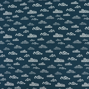 Bio Jersey Motiv Wolken von Stoffonkel in water by night