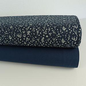 Bio Interlock Jersey Night Time blau von Birch Fabrics