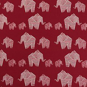 Bio Jersey Origami Motiv Elephant von Stoffonkel in kirsche