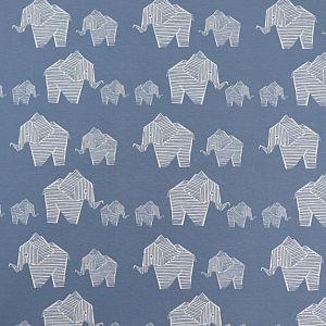Bio Jersey Origami Motiv Elephant von Stoffonkel in stonewashed