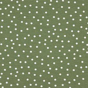 Bio Jersey Stoff Dotties olive grün von Stoffonkel