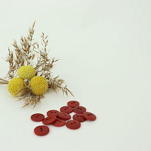Bio Knopf Echt Steinnuss 12mm Krappwurzel rot pflanzengefärbt vegan
