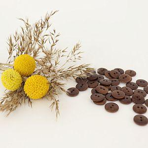 Bio Knopf Echt Steinnuss 12mm braun pflanzengefärbt vegan