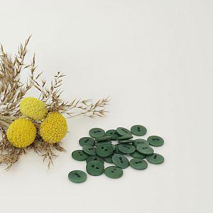 Bio Knopf Echt Steinnuss 12mm dunkelgrün matt