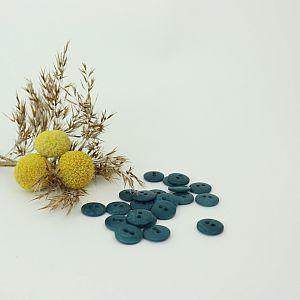 Bio Knopf Echt Steinnuss 12mm hydra türkis matt