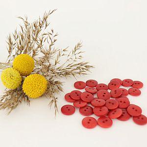 Bio Knopf Echt Steinnuss 12mm rot pflanzengefärbt vegan