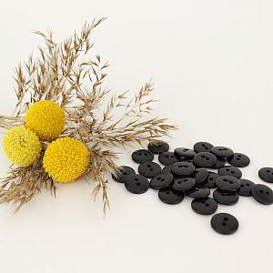 Bio Knopf Echt Steinnuss 12mm schwarz pflanzengefärbt vegan