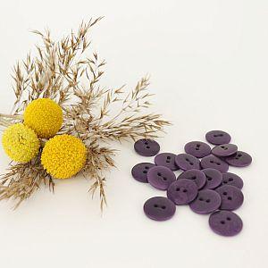 Bio Knopf Echt Steinnuss 15mm lila pflanzengefärbt vegan