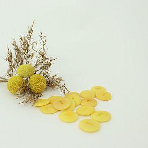 Bio Knopf Echt Steinnuss 20mm Aspen Gold seidenmatt