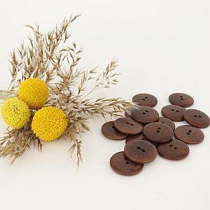 Bio Knopf Echt Steinnuss 20mm braun pflanzengefärbt vegan