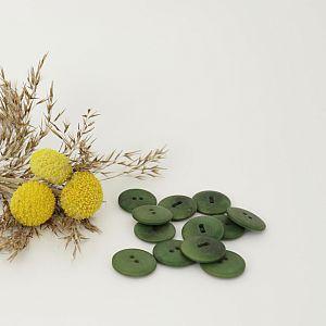 Bio Knopf Echt Steinnuss 20mm grün Olive satin matt