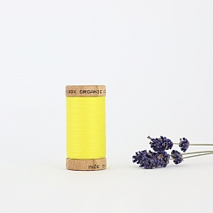Nähgarn Gelb 100% Bio Baumwolle Scanfil