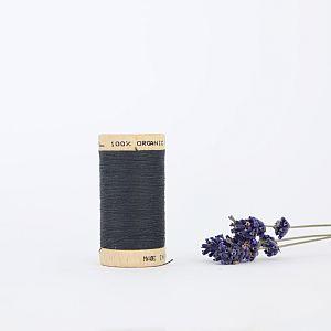 Nähgarn Karbon Grau 100% Bio Baumwolle Scanfil