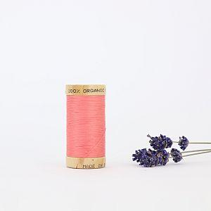 Nähgarn Lachs Rot 100% Bio Baumwolle Scanfil