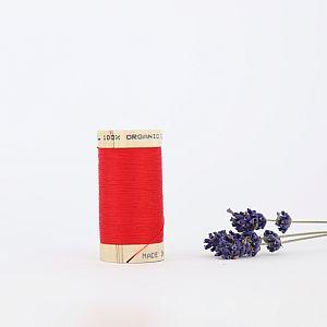 Nähgarn Rubinrot 100% Bio Baumwolle Scanfil