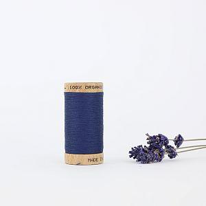 Nähgarn Saphirblau 100% Bio Baumwolle Scanfil
