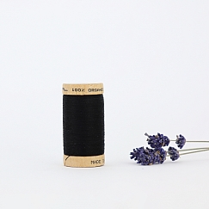 Nähgarn Schwarz 100% Bio Baumwolle Scanfil