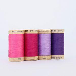 Nähgarn Set Flieder 100% Bio Baumwolle Scanfil