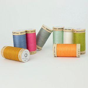 Nähgarn Set Komplett mit 34 Farben 100% Bio Baumwolle Scanfil