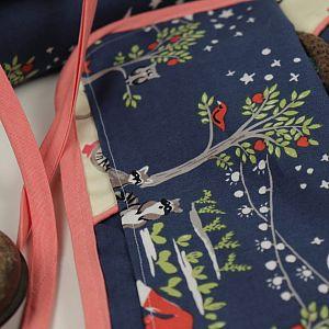 Bio Popeline Baumwollstoff Night Garden blau von Monaluna