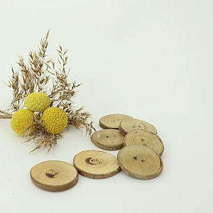 Bio Holzknöpfe Obstholz 31mm im Set