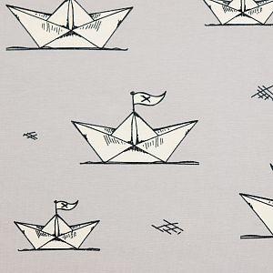 Bio Jersey Paper Boats grau von Bloome Copenhagen