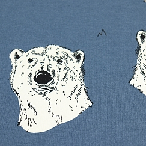 Bio Sommersweat Polar Bear in dusty blue von Bloome Copenhagen