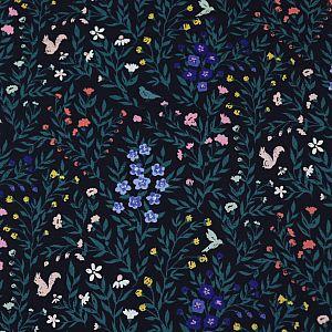 Bio Popeline Baumwollstoff Fauna aus der Serie Perennial von Cloud9