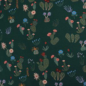 Bio Popeline Baumwollstoff Prickly Florals aus der Serie Arid Wilderness von Cloud9