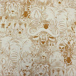 Bio Popeline Baumwollstoff Wild Thing Gold aus der Serie Grasslands von Cloud9