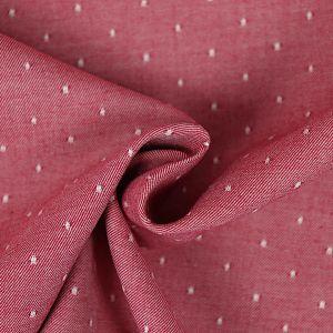 Bio Chambray Punkte Kirschblüten Rot von Amandine Cha