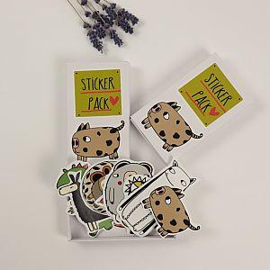 Tigapigs Sticker Box mit 13 Aufklebern