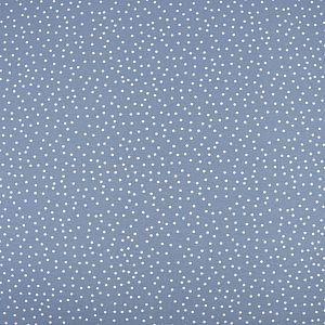 Bio Jersey Stoff Dotties stonewashed blau von Stoffonkel