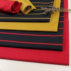 Bio Jersey Stoff Streifen navy rot Streifenjersey