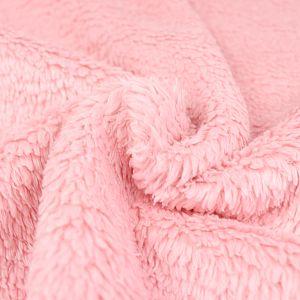Bio Plüsch Stoff peach rose von Stoffonkel
