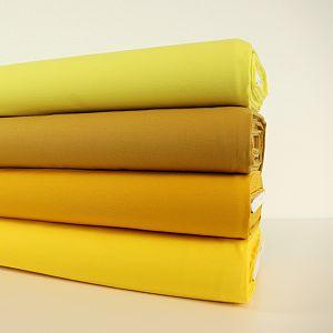 Bio Jersey Stoff uni ocker gelb