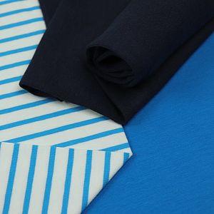 Bio Jersey Stoff Streifen weiß blau Ringeljersey Stoffonkel