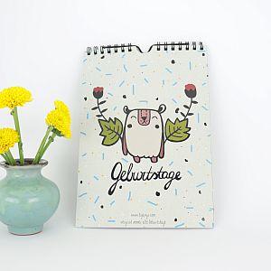 Tigapigs Geburtstagskalender A5